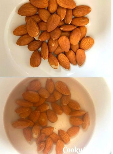 Almonds getting soaked