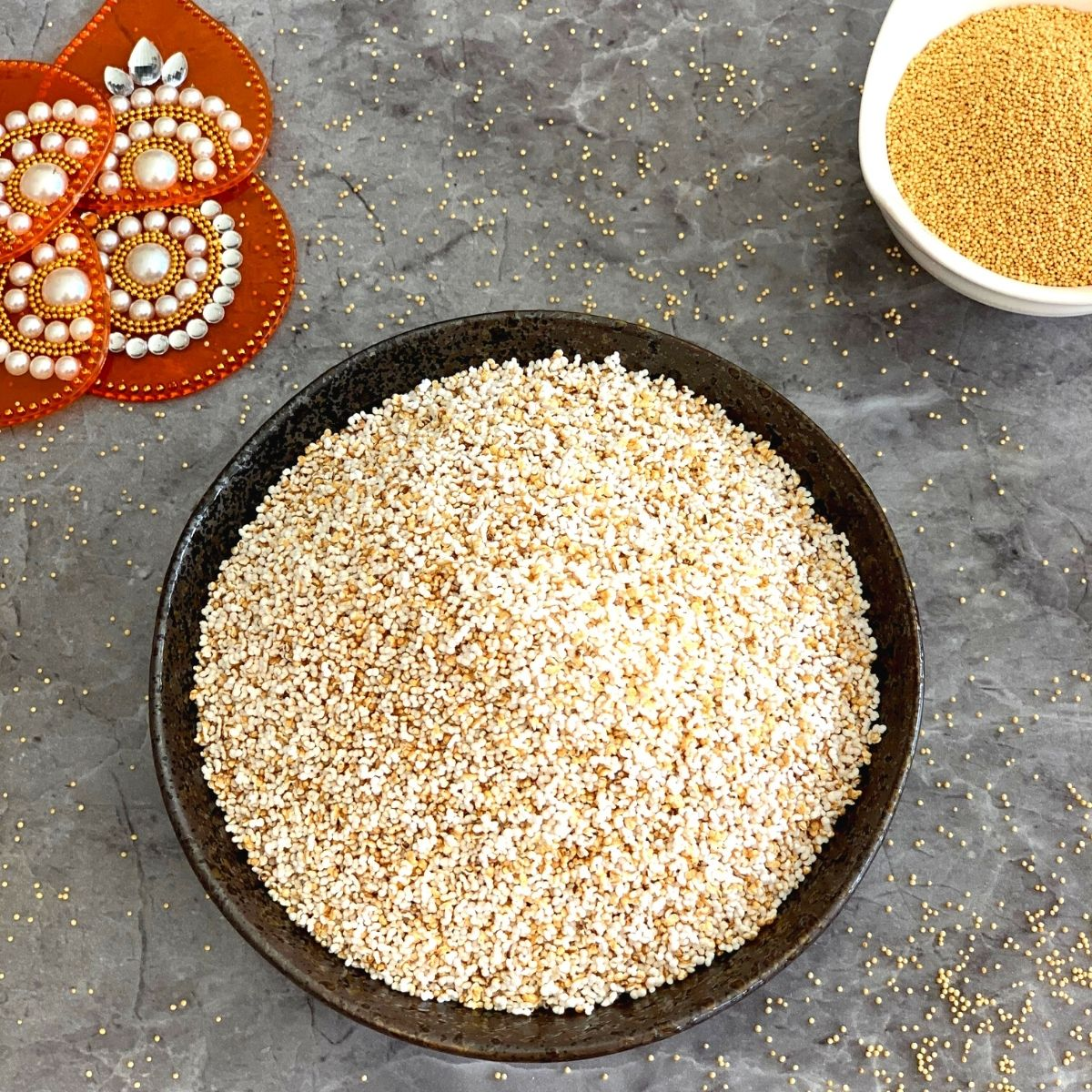 Puffed Amaranth or Popped Rajgira is easy to make gluten free snack that is popped similar to popcorn and consumed as is or in various recipes.