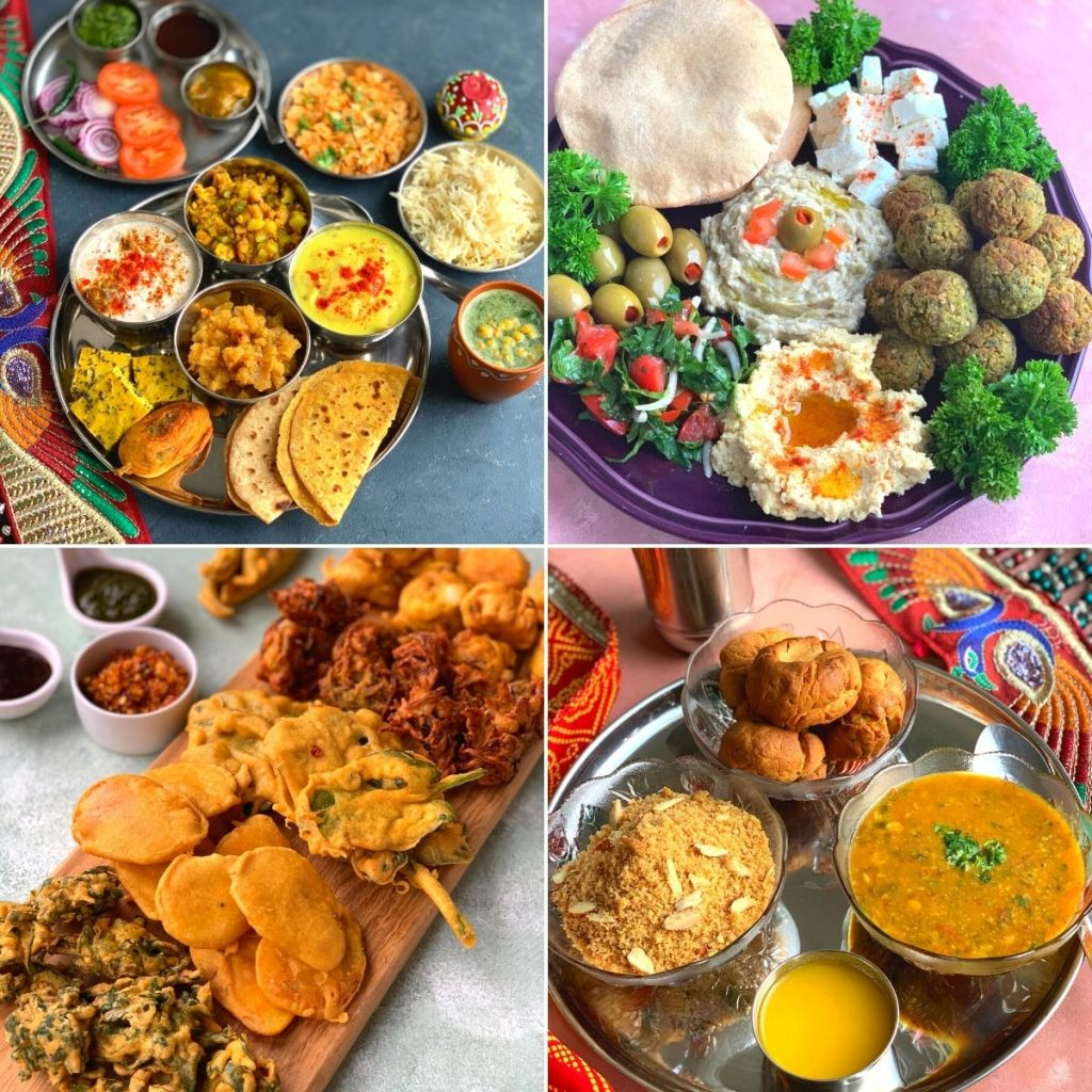 Vegetarian Thalis and Platters is a collection of 26 different vegetarian thalis featuring Indian and International platters, loved by all ages.
