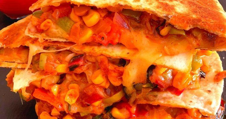 Farmer's Market Vegetarian Quesadilla