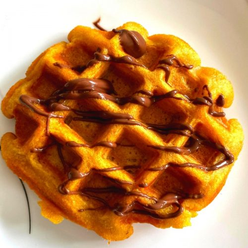 Whole Wheat Pumpkin Waffles are an easy fuss-free recipe, with the goodness of pumpkin, are crunchy on the outside and soft inside.