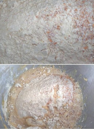 Dough getting mixed