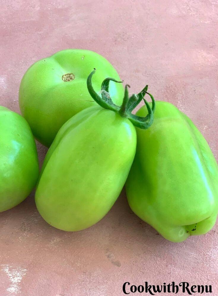 Fresh Green Tomatoes Harvest