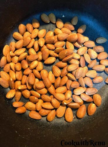 Almonds Being Roastted