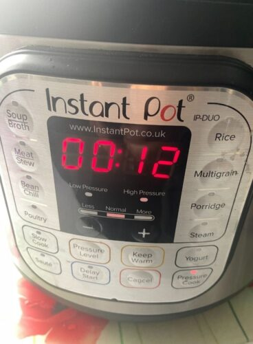 Instant Pot Set to 12 minutes