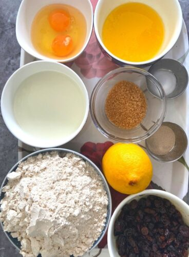Ingredients for Paska Bread