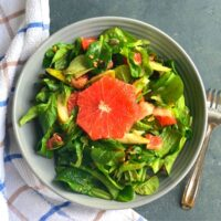 Lettuce, Pear and Grapefruit Salad