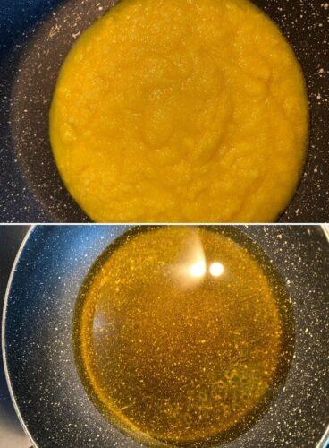 Melting Ghee in a wok