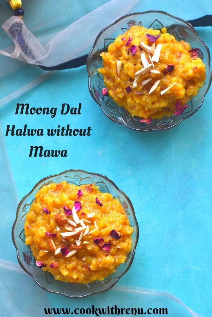 Moong Dal Halwa using Milk