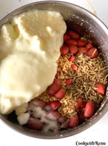 Adding of ingredients in mixer grinder