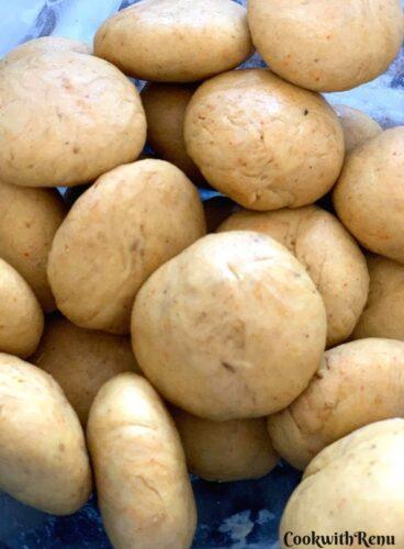 Dough balls of Puri