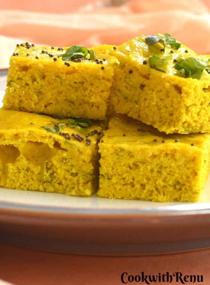 Close p look of Foxtail Millet Dhokla