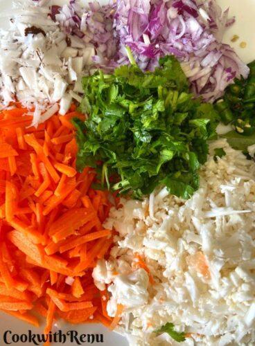 Veggies for Pitha
