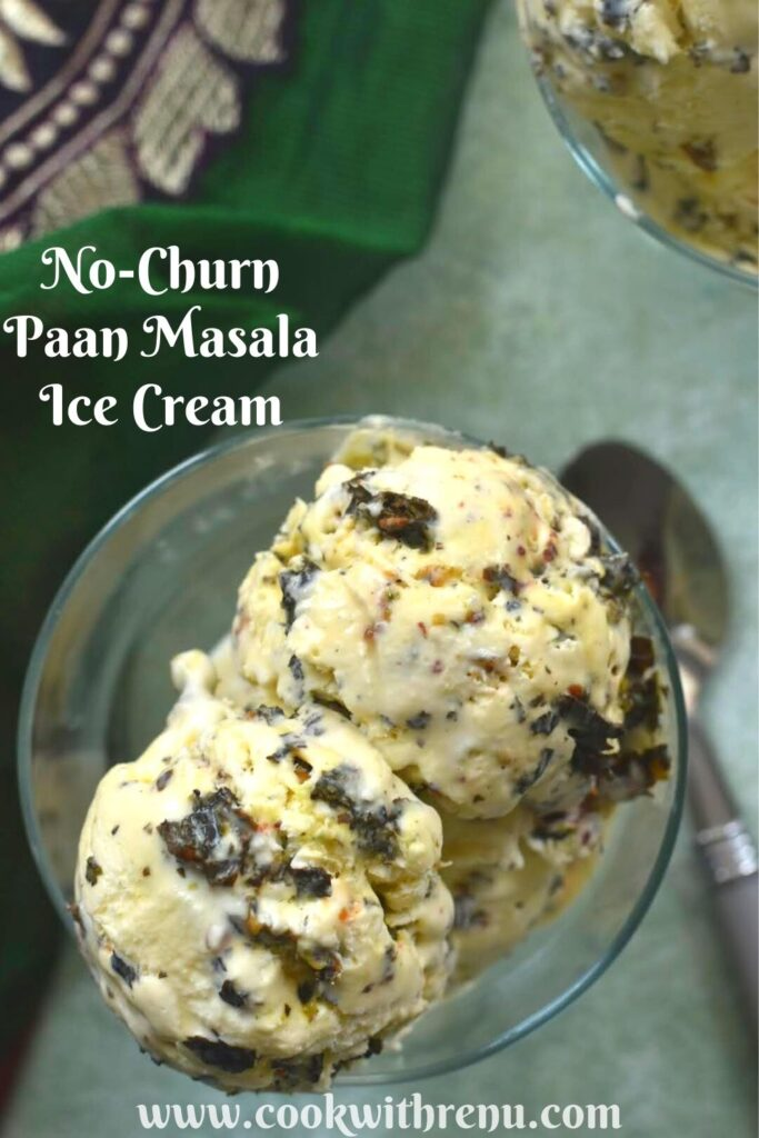 Paan Masala Ice Cream Served in a bowl