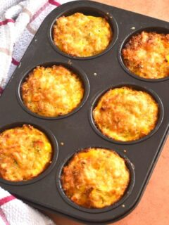 6 Baked Flourless Quinoa Vegetable Muffin in muffin tin