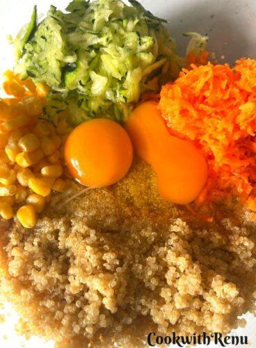 Quinoa, Veggies and Eggs