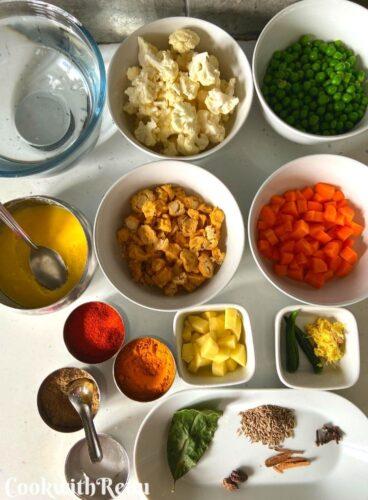 Ingredients for Vegetable