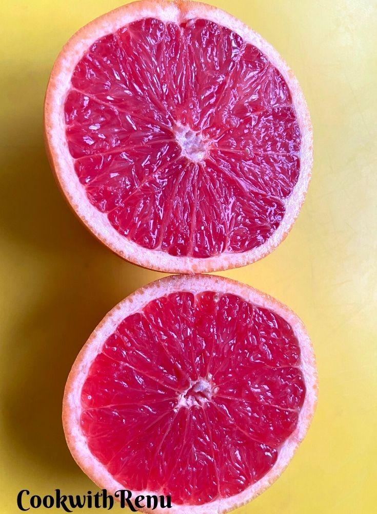 Whole Grapefruit cut into 2 pieces